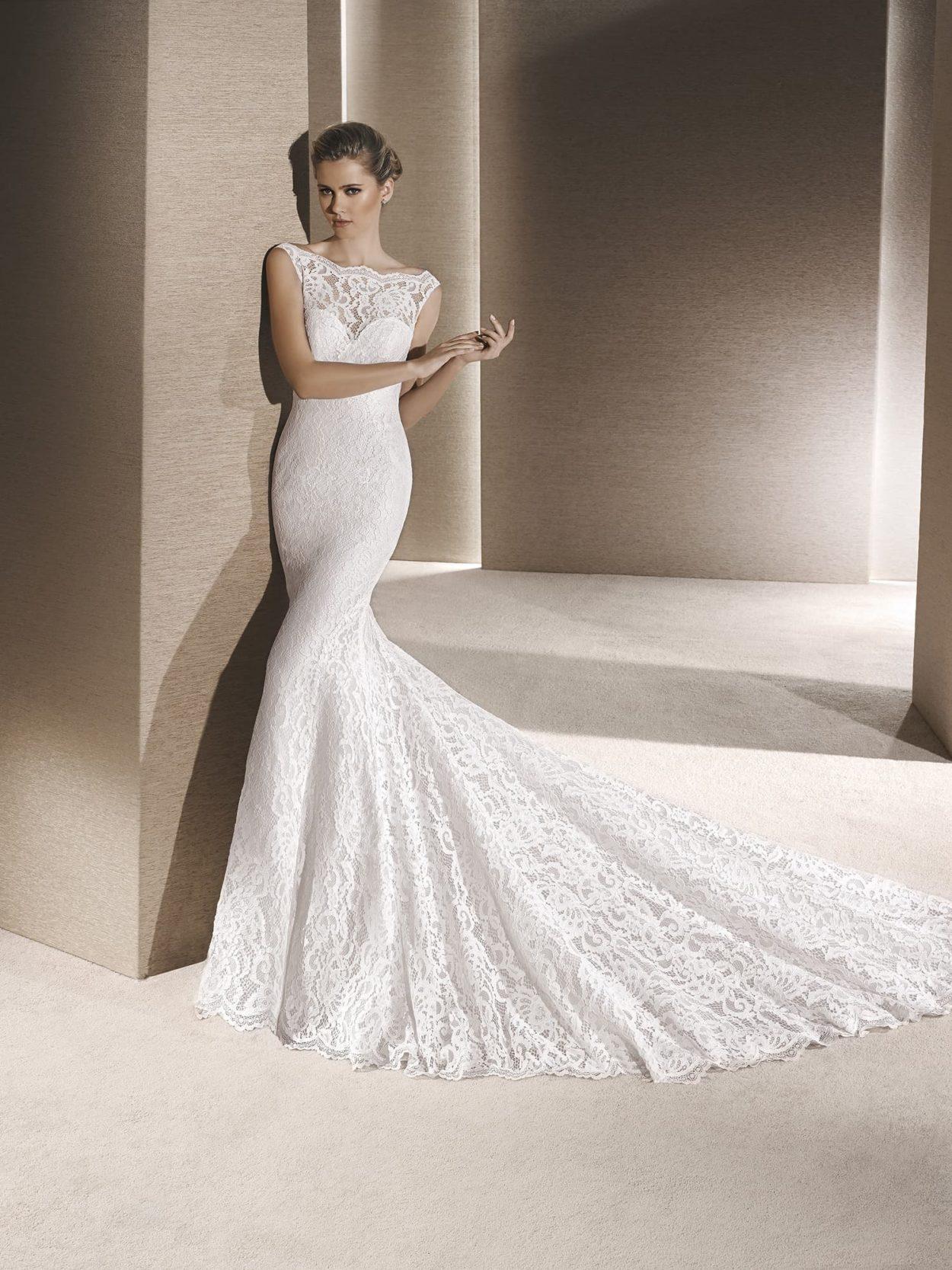 Свадебных платье русалка из кружева