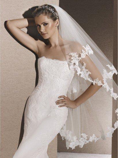 Облегающее свадебное платье русалка.