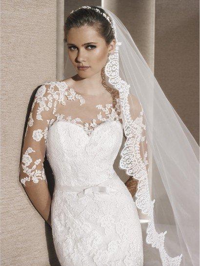 Очаровательное свадебное платье русалка.