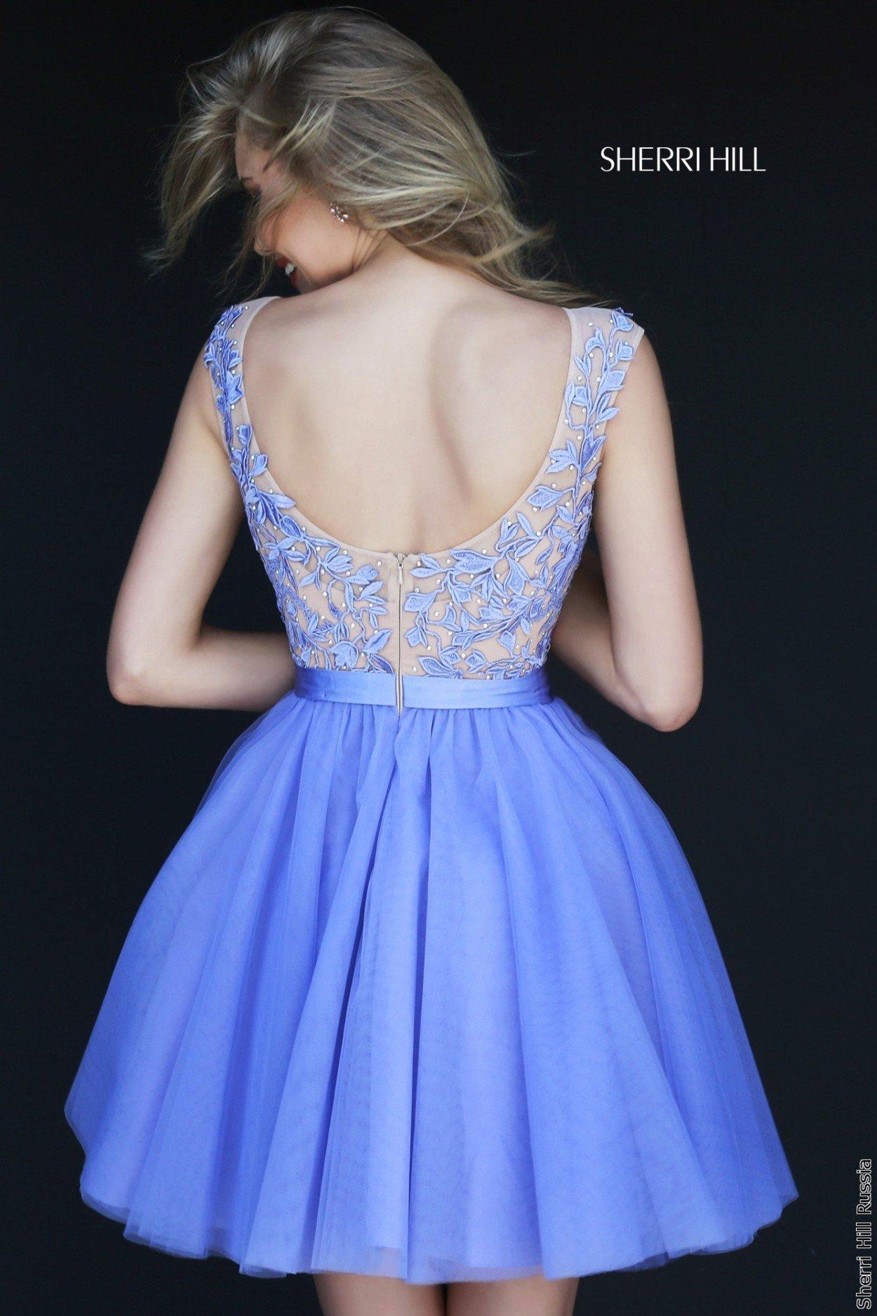 Короткие платья на выпускной с открытой спиной