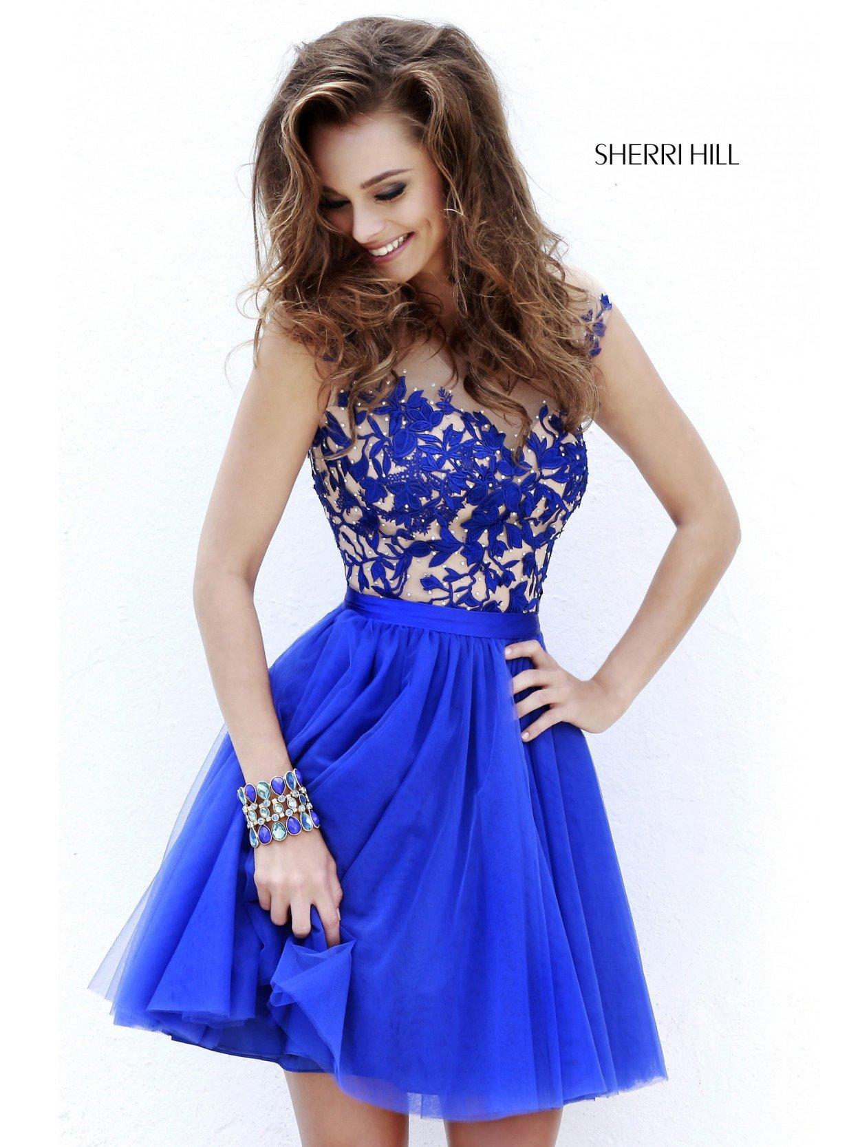 Платье синие короткое