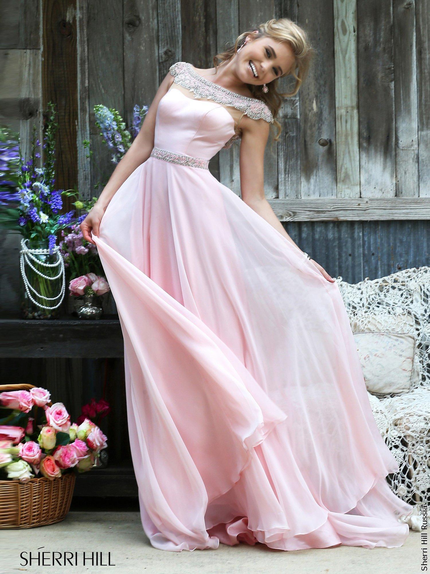 платье розовое с голубым фото