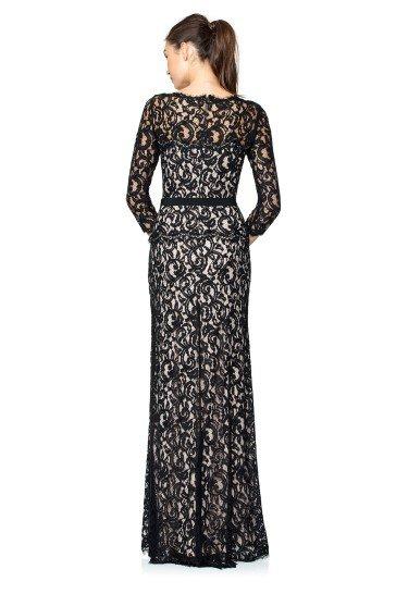 Длинное зимнее вечернее платье.