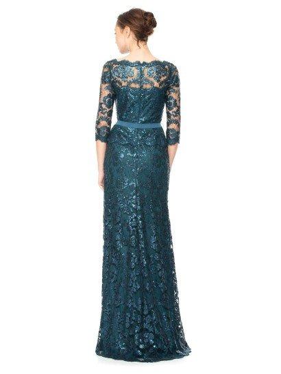 Темно-синее вечернее платье.