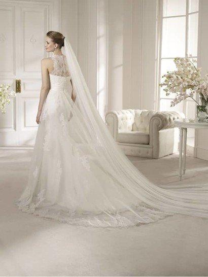 Красивое летящее кружевное свадебное платье с американской проймой. ➌ Примерка и подгонка платьев  ✆ +7 495 627 62 42 ★ Салон Виктория Ⓜ Арбатская Ⓜ Смоленская