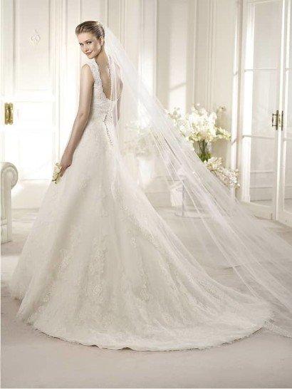 Кружевное свадебное платье AMBERES.