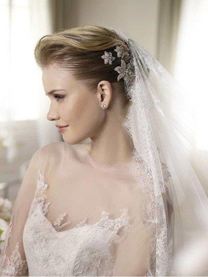 Свадебное платье А-силуэта с прозрачным верхом. ➌ Примерка и подгонка платьев  ✆ +7 495 627 62 42 ★ Салон Виктория Ⓜ Арбатская Ⓜ Смоленская