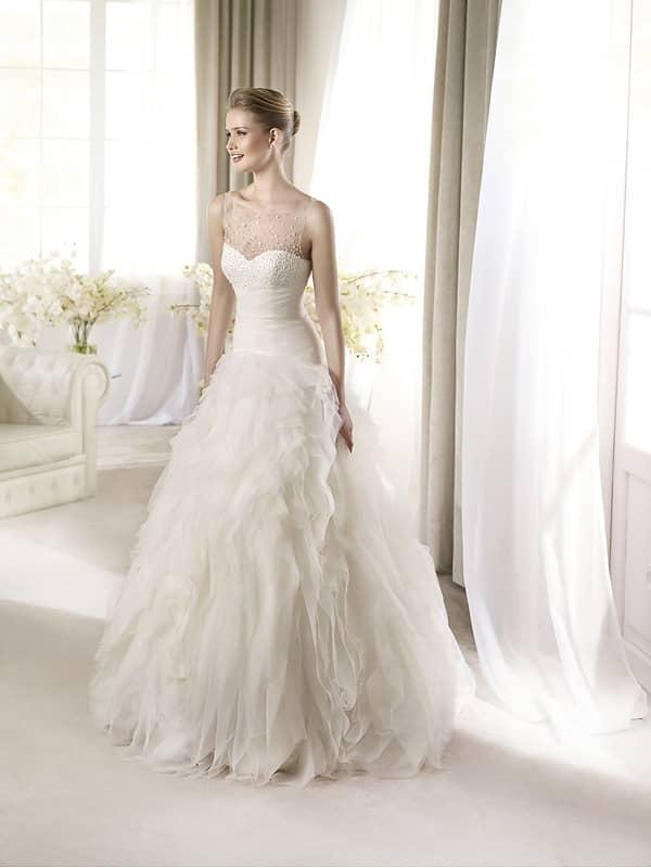 Эффектное свадебное платье с облегающим верхом. ➌ Примерка и подгонка платьев  ✆ +7 495 627 62 42 ★ Салон Виктория Ⓜ Арбатская Ⓜ Смоленская