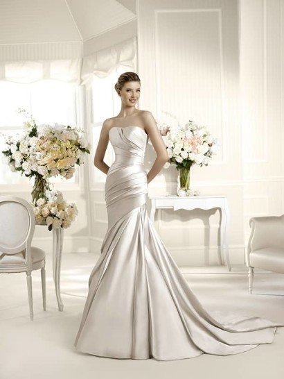 Свадебное платье силуэта рыбка.