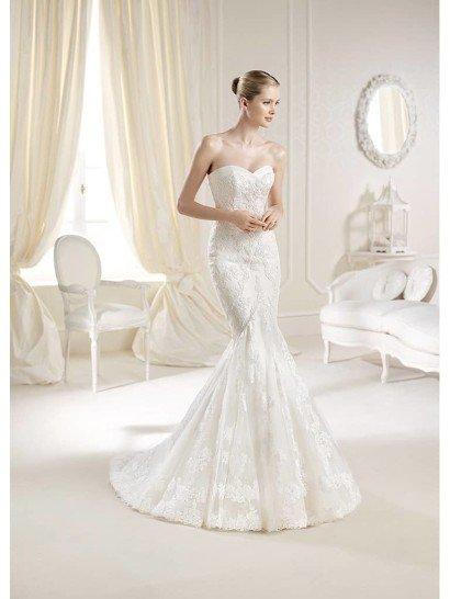 Кружевное свадебное платье русалка.