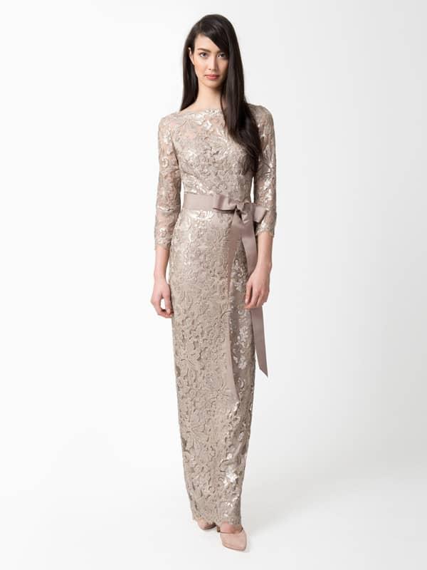 Кружевное коктейльное платье с поясом.