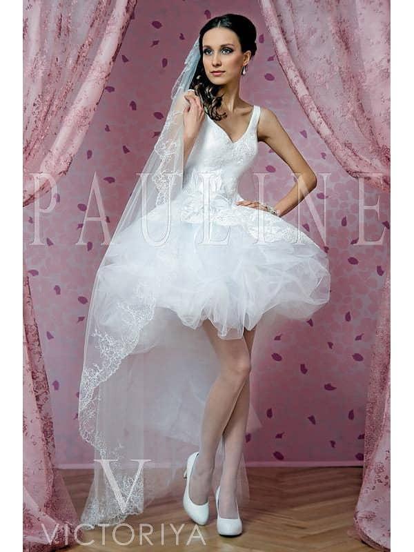 Изумительное короткое свадебное платье с «балетной» интонацией.