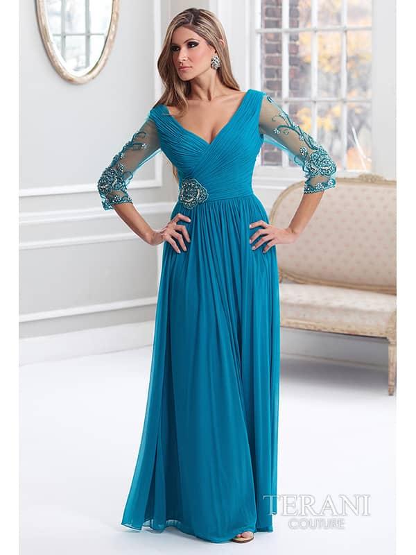 Недорогое вечернее платье с рукавами за 9000 руб.