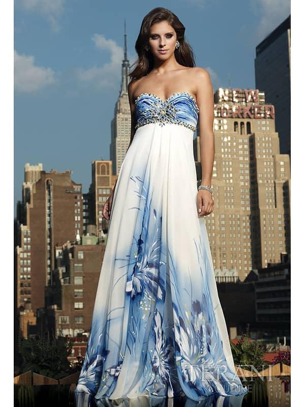 Недорогое вечернее платье в пол.