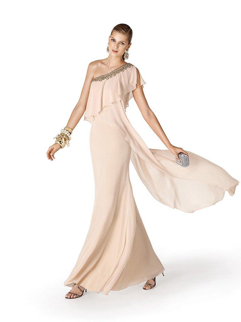 Асимметричное недорогое вечернее платье.
