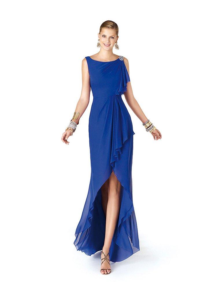Вечернее платье переменной длины.