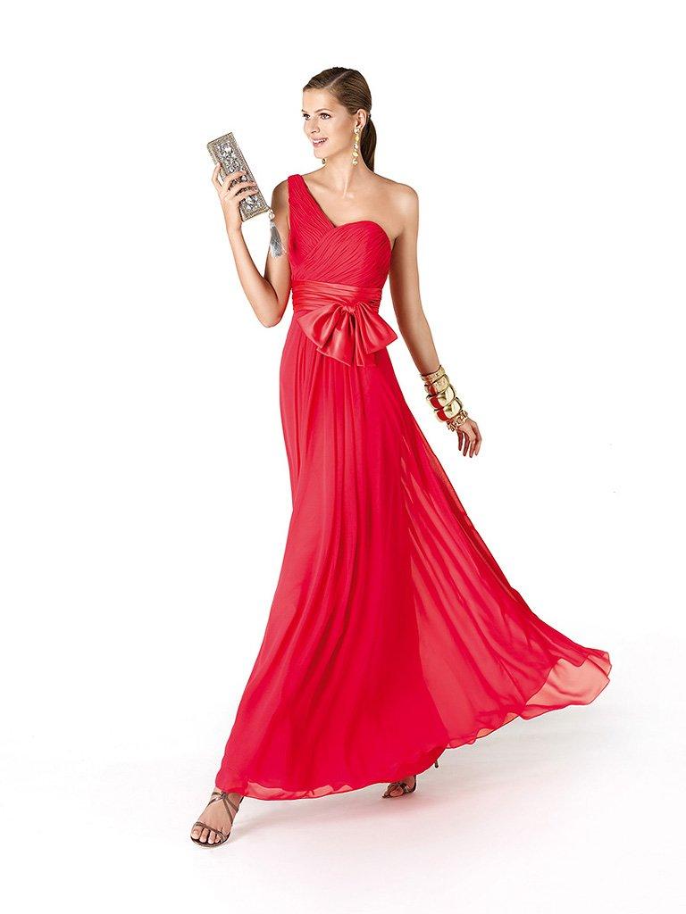Асимметричное вечернее платье с бантом.