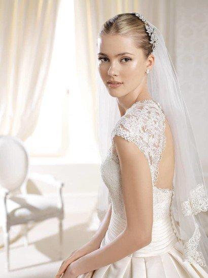 Свадебное платье А-силуэта со шлейфом La Sposa.