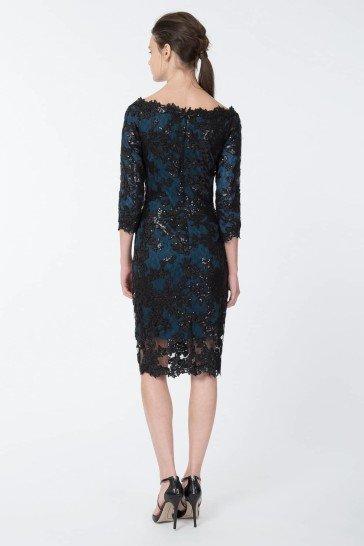 Кружевное коктейльное платье.