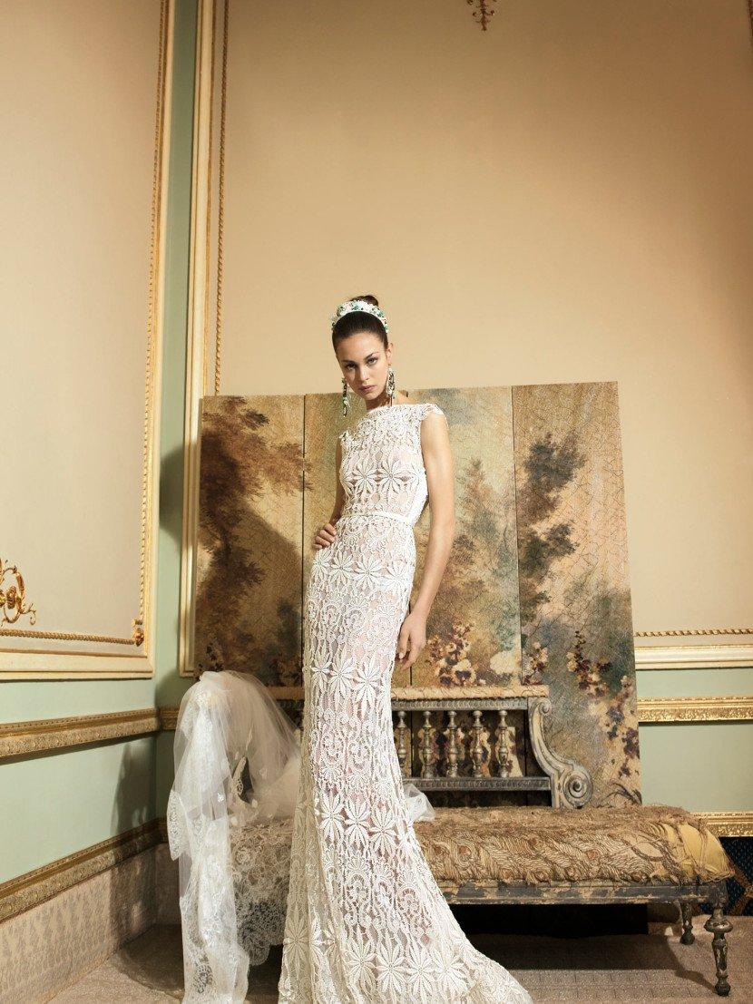 Дорогое свадебное платье Yolan Cris.