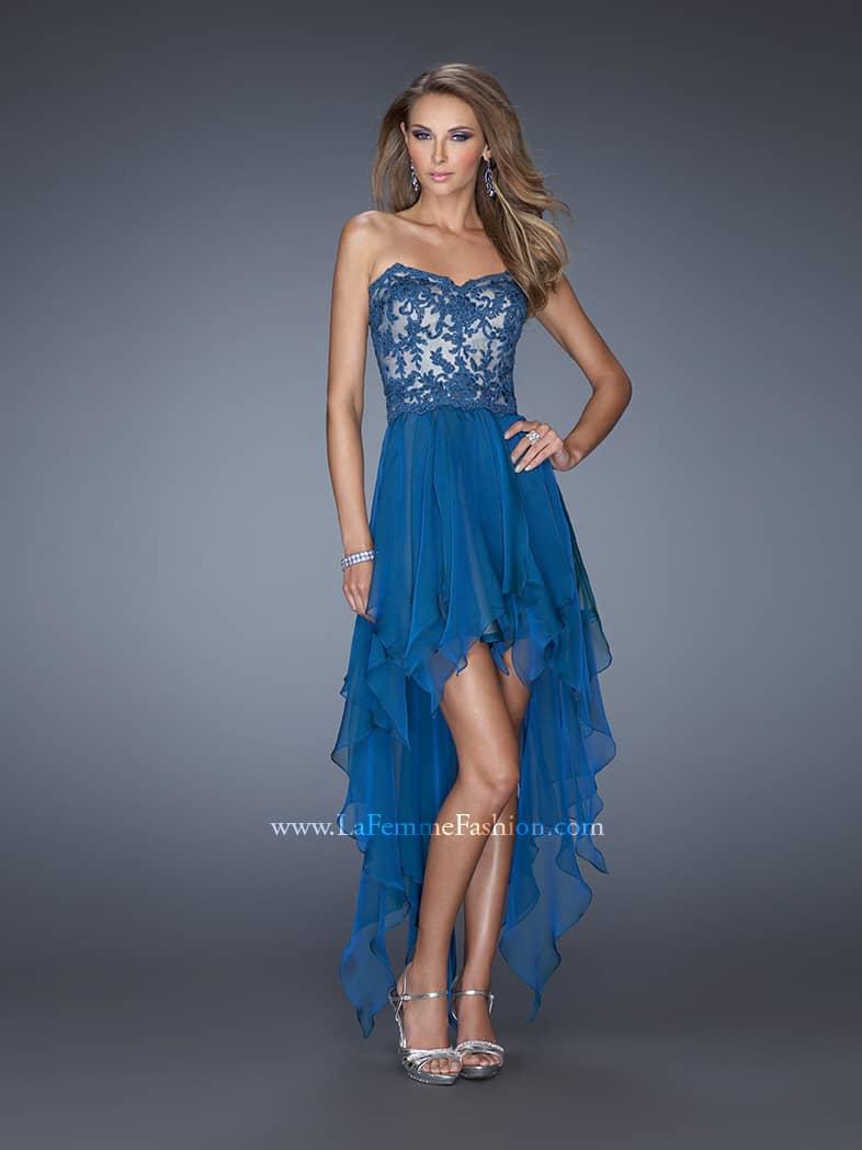 Вечернее платье короткое спереди.