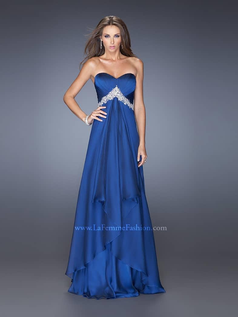 Синее вечернее платье в пол.