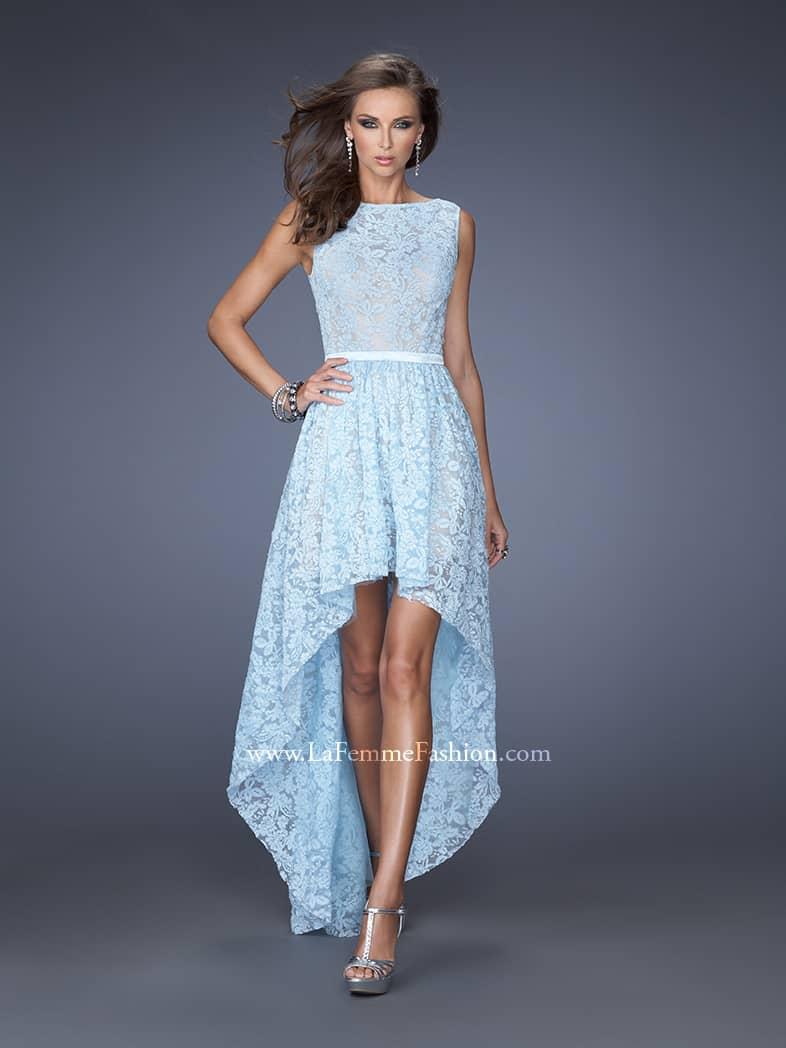 Открытое выпускное платье с юбкой переменной длинны.