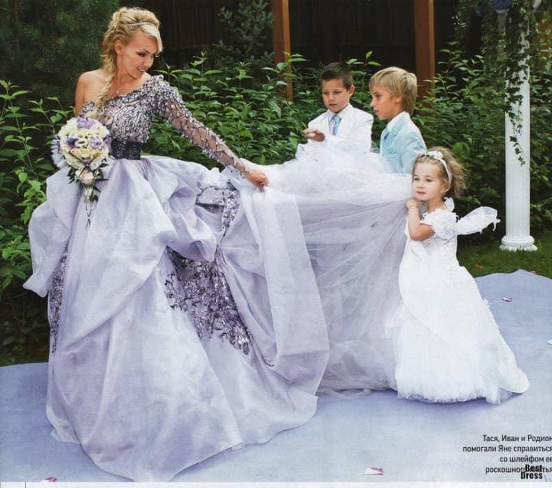 Яна Рудковская В Свадебном Платье 95
