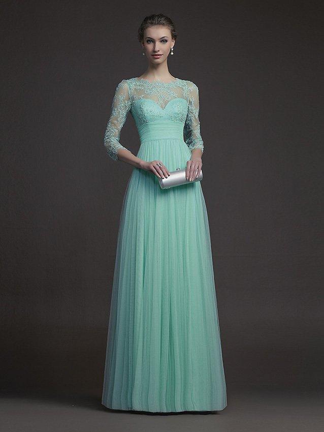 Длинное вечернее платье.