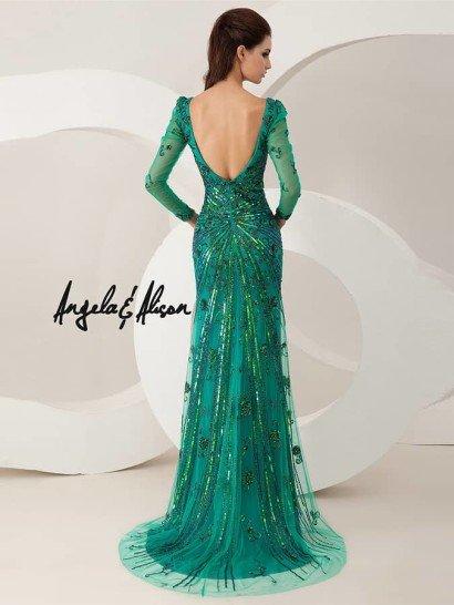 Золотое блестящее вечернее платье.