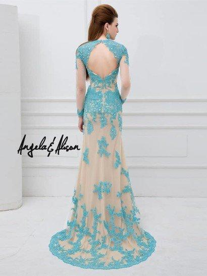 Вечернее платье со шлейфом.