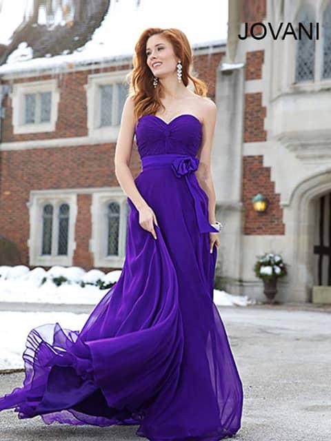 Фиолетовые длинные платья