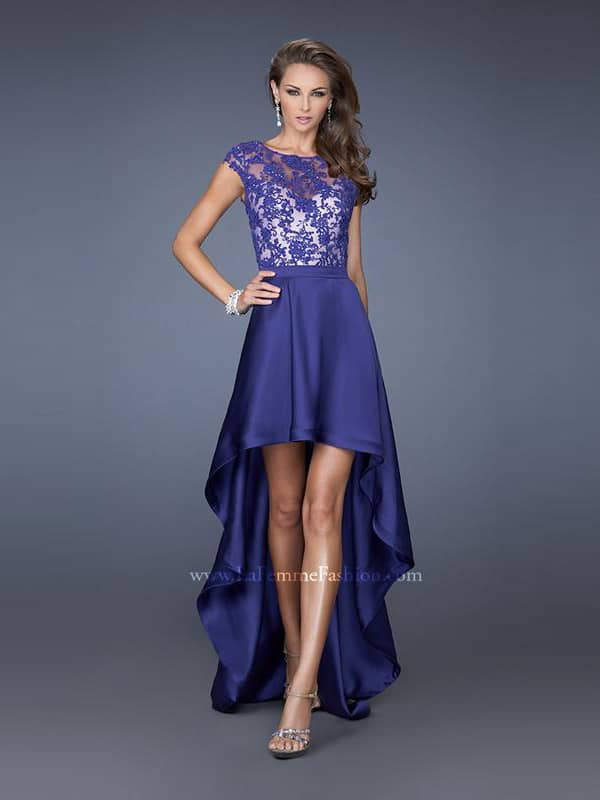 Вечернее недорогое фиолетовое платье.
