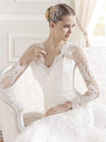 Свадебное платье А-силуэта Evita от La Sposa.