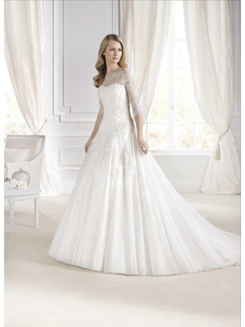 Открытое пышное свадебное платье 2015.