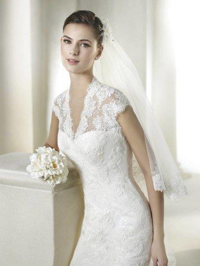 Элегантное недорогое свадебное платье силуэта русалка.