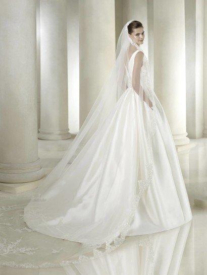 Свадебное атласное платье SAYRA от San Patrick.