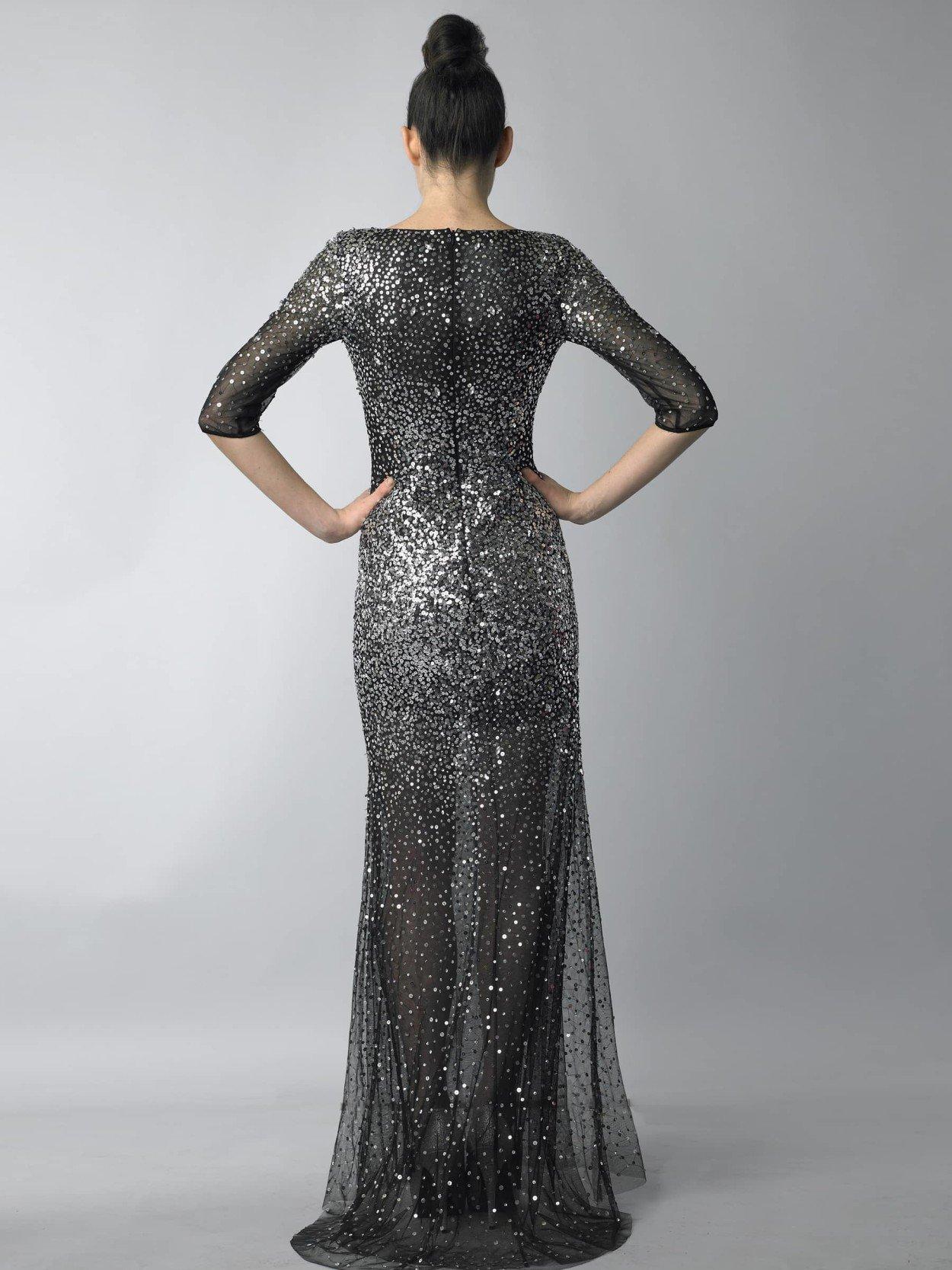Черное платье пайетки в наличии