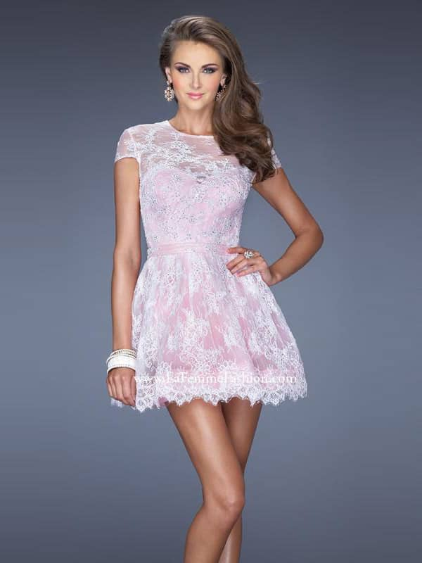 Короткое вечернее платье розовое