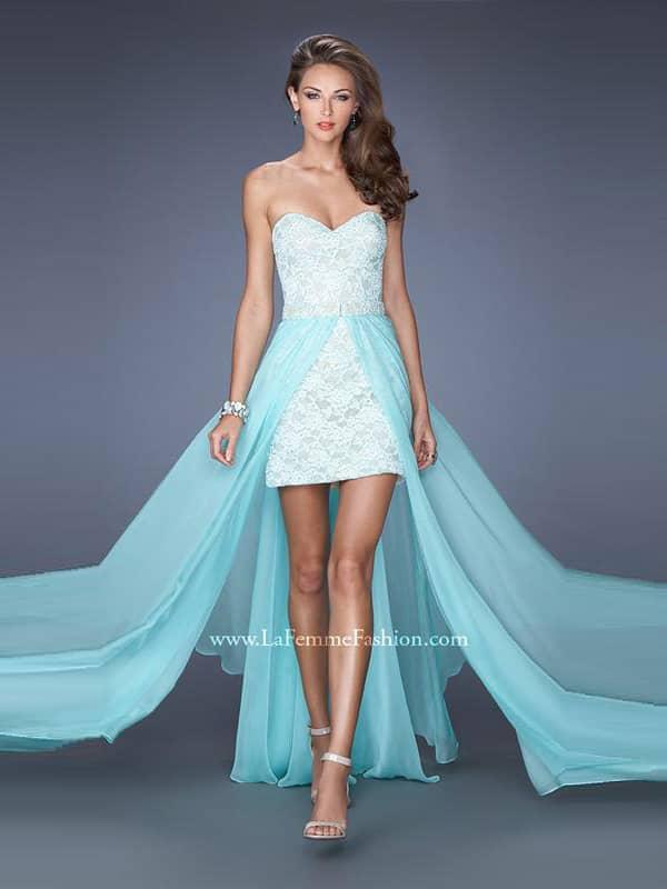 a7d4703afaa Короткое вечернее платье-трансформер La Femme 19885 ✓ купить в ...