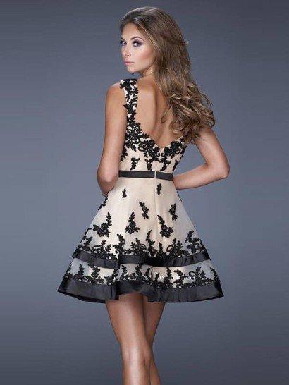 Роскошное короткое вечернее платье La Femme 20606.
