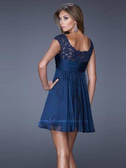 короткое вечернее платье La Femme 20624.