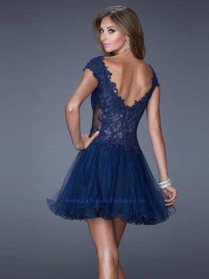 Короткое вечернее платье La Femme 20676.