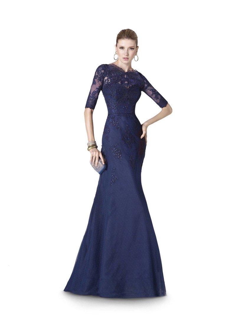 Вечернее платье темного синего цвета 2015.