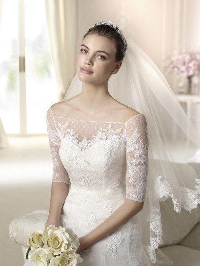 Свадебное платье с заниженной линией Dalma от White One 2015.