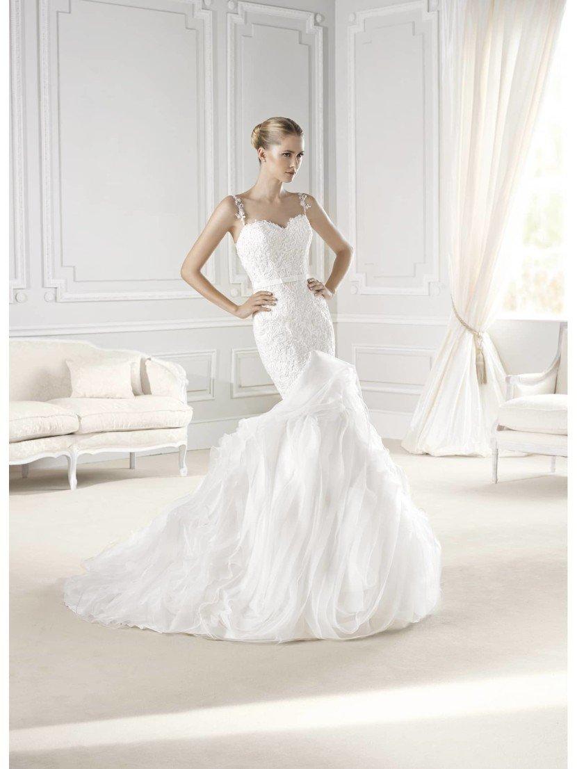 Шикарное свадебное платье русалка.
