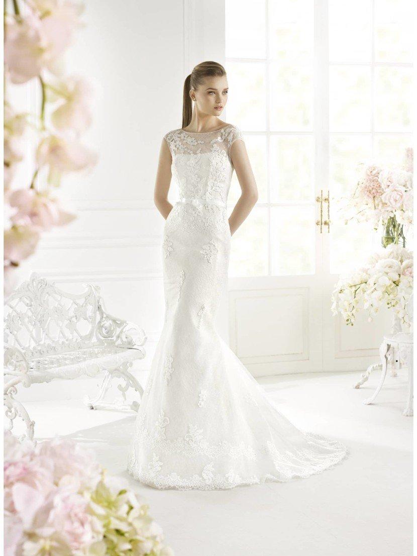 Свадебное платье русалка GANDIR от Avenue Diagonal 2015.