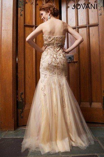 Вечернее платье русалка Jovani.