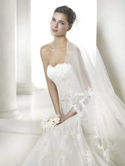 Открытое свадебное платье силуэта русалка 2015.