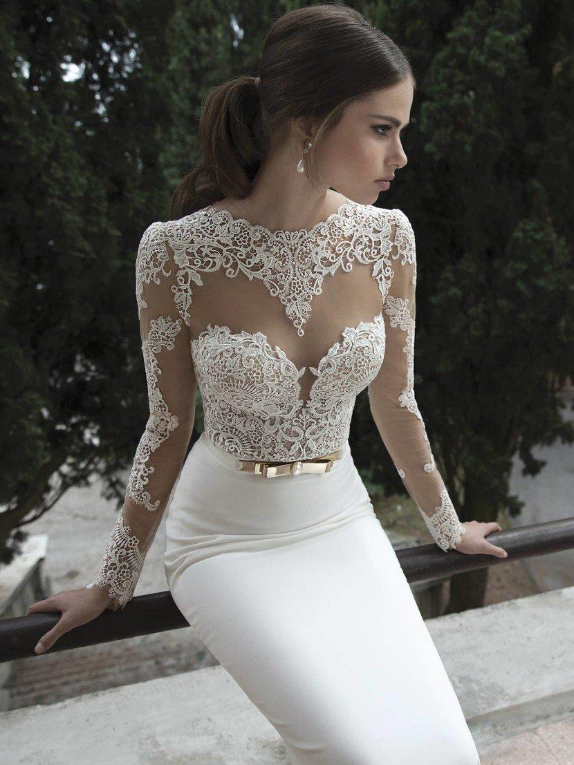 Прозрачное свадебное платье Berta Bridal 1415.